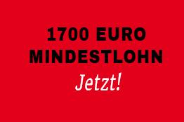 1.700 Euro Mindestlohn für ein Leben in Würde