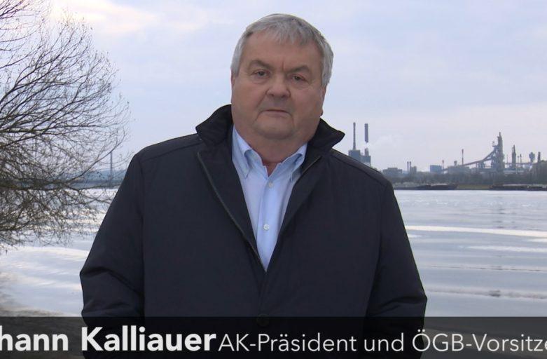 Die stärkste Stimme gegen Schwarz-Blau: Johann Kalliauer kandidiert bei der AK-Wahl 2019