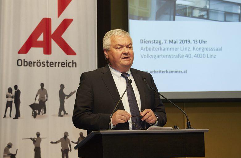AK-Präsident Johann Kalliauer: Mit einer starken Arbeiterkammer in die Zukunft