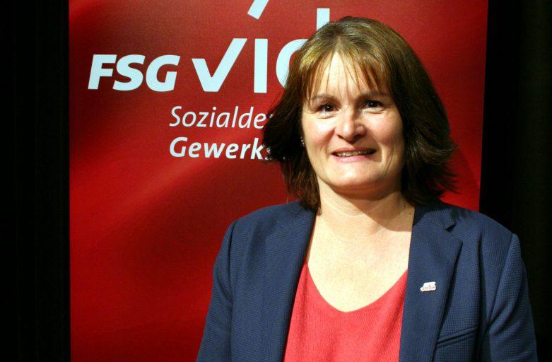 Sabine Ameshofer zur Landesvorsitzenden der FSG in der Gewerkschaft vida gewählt